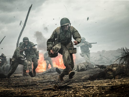 """Andrew Garfield in a scene from """"Hacksaw Ridge."""" The"""
