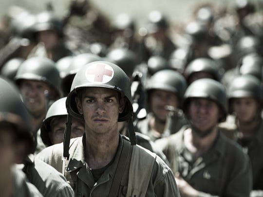 Andrew Garfield stars as a combat medic who won't touch