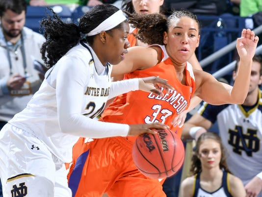 NCAA Womens Basketball: Clemson at Notre Dame