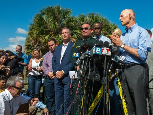 Florida Gov. Rick Scott and Broward County Sheriff