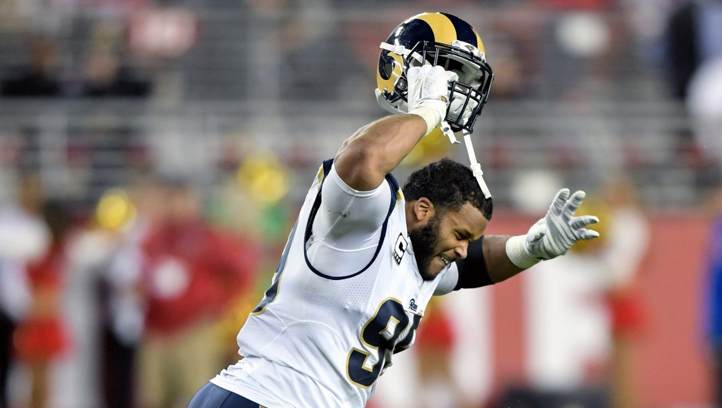 Rams DT Aaron Donald apologizes to teammates for dumb ejection