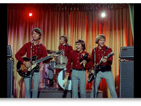 Two of The Monkees, Peter Tork and Micky Dolenz, will be performing next week at Mann  Hall.  Here's a scene from their 60s TV show. Pictured, left to right, are Mike Nesmith, Dolenz, Davy Jones and Tork.