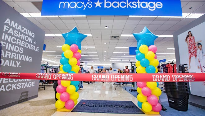 There's a new Backstage outlet store on the second floor of the Macy's at the Treasure Coast Square mall in Jensen Beach.