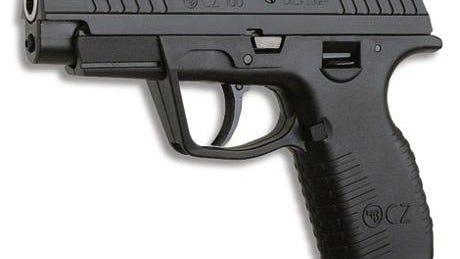 A semiautomatic handgun.