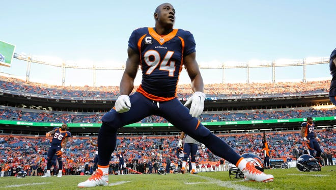 Broncos end DeMarcus Ware has boosted the pass rush in his first season in Denver.