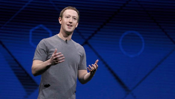 Mark Zuckerberg delivers the keynote address at Facebook's