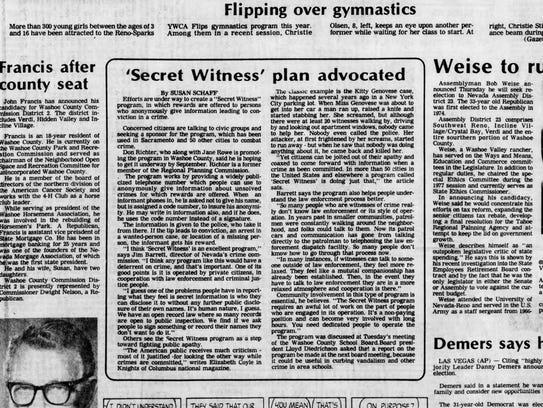 Reno Evening Gazette, June 16, 1978.