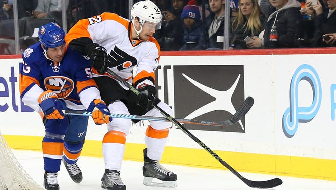Michael Raffl is the only Flyer to suit up for all 82 games this season.