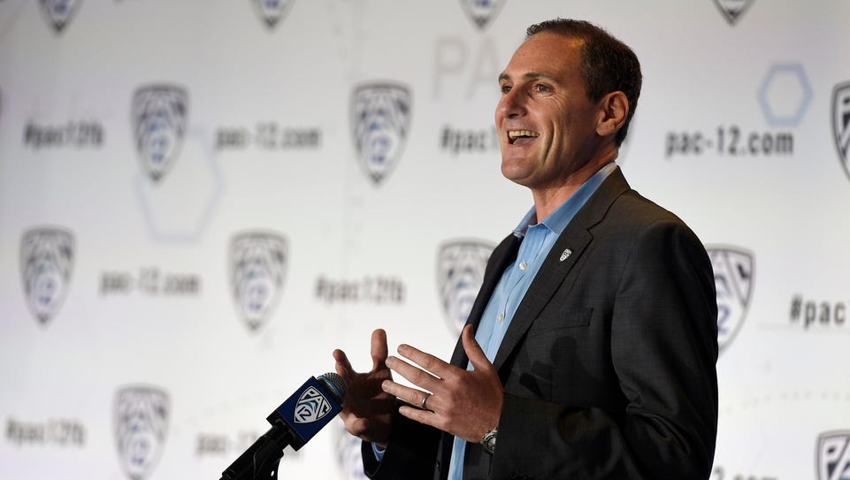 Jul 23, 2014; Hollywood, CA, USA; Pac-12 commissioner