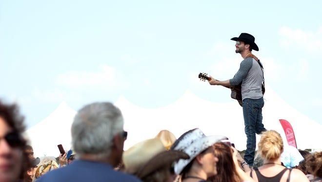 Craig Campbell performs during the CountryLife Music Festival