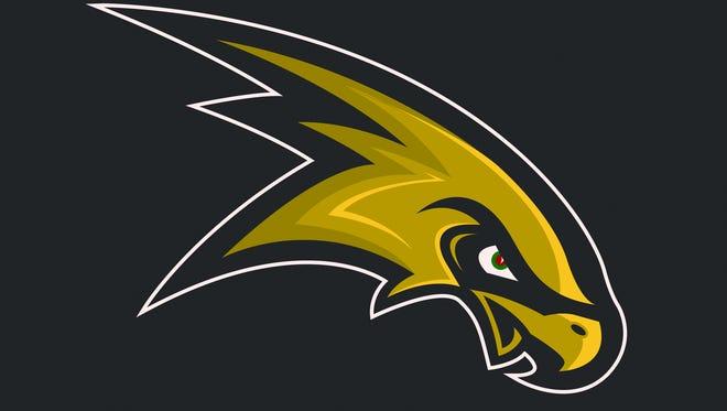 Corning Hawks logo.