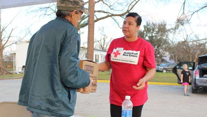 Ava Carter at theFebruary disaster mental health service during the southeast Louisiana tornadoes.