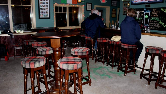 There's lots more room in the pub now with the new tables and stools.