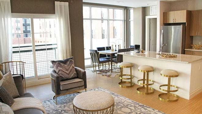 Studio, one- and two-bedroom apartments will soon be available for renting at The Harper at Harmon Meadow in Secaucus, NJ. Occupancy is expected to begin in February.