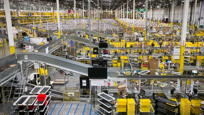 A section of the Amazon Fulfillment Center in south Phoenix on Wednesday, March 4, 2015.