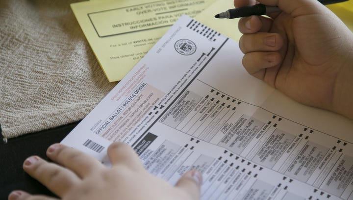Republican secretary of state candidates spar over Arizona's voter-registration rules