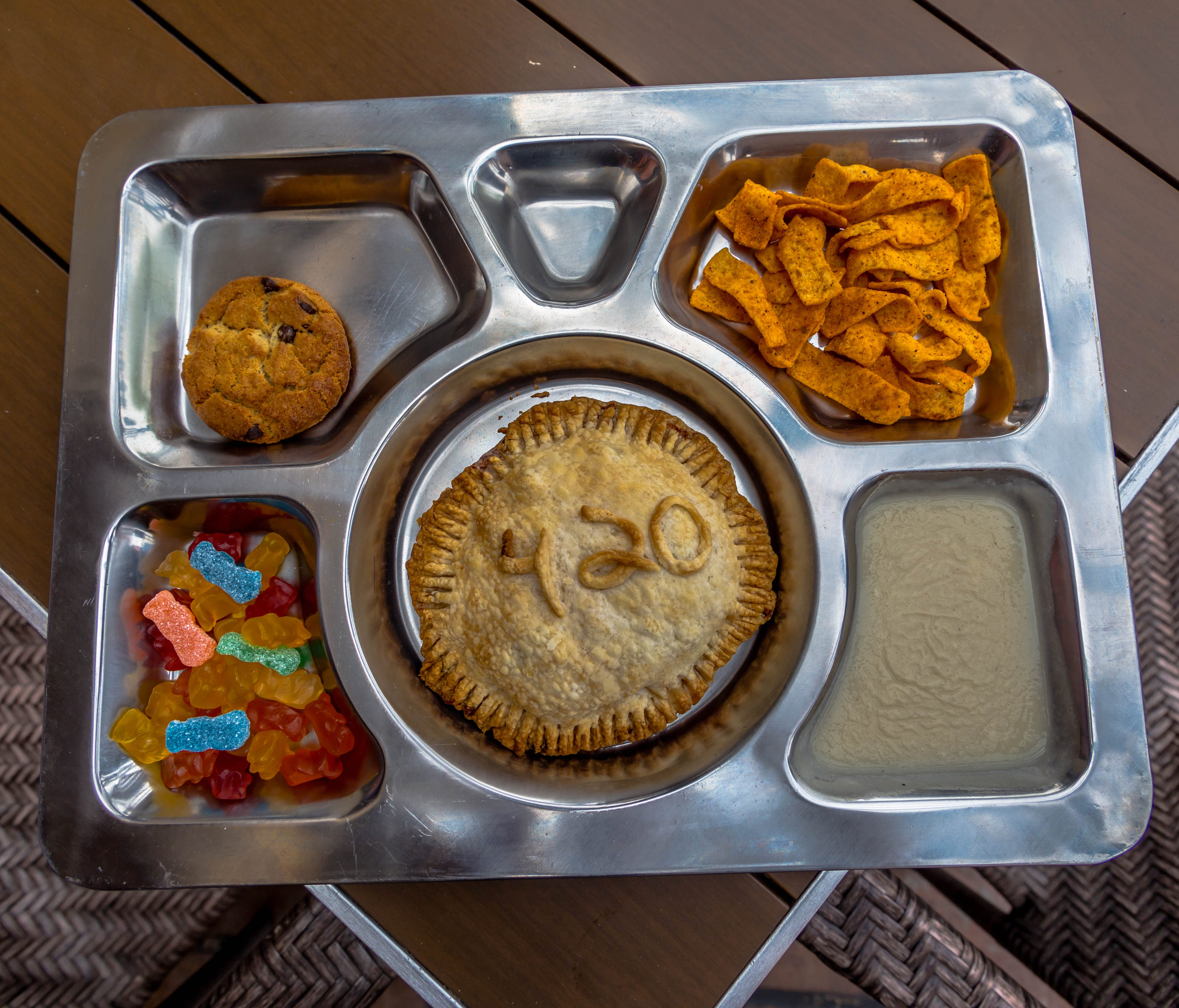 Ginger Monkey, an Arizona restaurant, has a special 420 Pot Pie, which comes with munchies on the side.