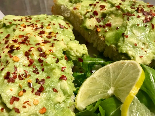 Avocado toast, one of several toast toppings at On