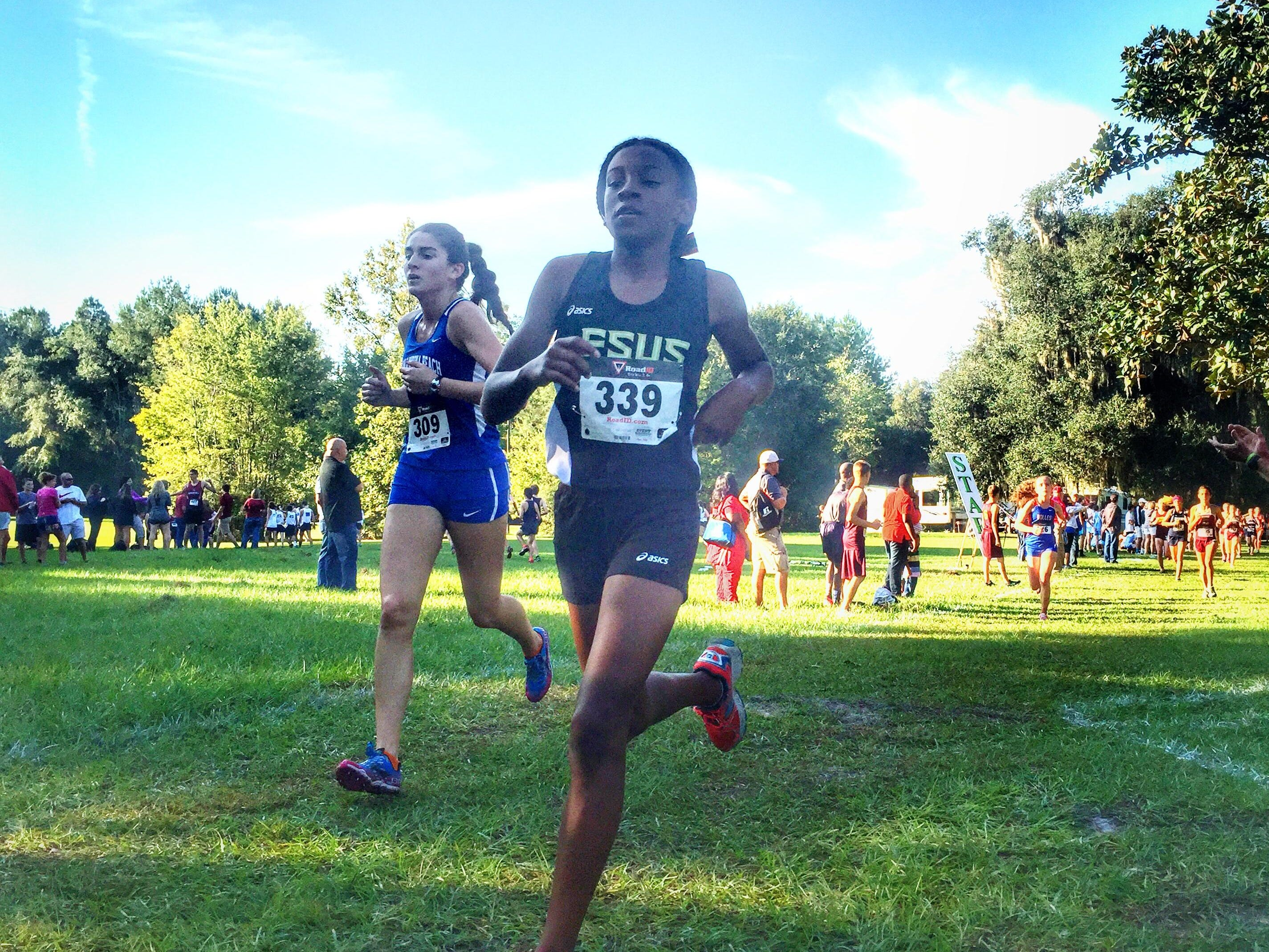 Florida High sixth grader Tonie Morgan finished in 12th place for the Seminoles and led her team to the first state meet appearance since 2000.