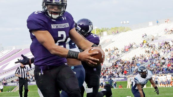 Northwestern quarterback Kain Colter. (AP Photo/Nam Y. Huh, File)