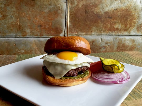 The NoCovore from Loveland's Door 222 using locally sources ingredients. The mushroom burger is part of a James Beard Foundation competition.