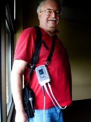 Dave Disselbrett had a Left Ventricular Assist Device (LVAD) implanted in 2012 that helps to pump his heart. Photographed at the Center 50+ in Salem on Friday, Oct. 24, 2014.