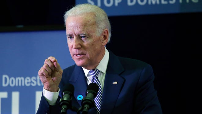 Vice President Biden speaks during a visit to the headquarters of the National Domestic Violence Hotline on Oct. 30 in West Lake Hills, Texas. President Obama's aides considered dropping Biden from the 2012 ticket, according to a new book.