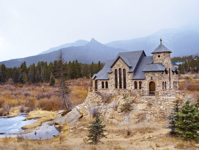Chapel on the Rock near Estes Park, Colo., has                                                          an                                                          understated b