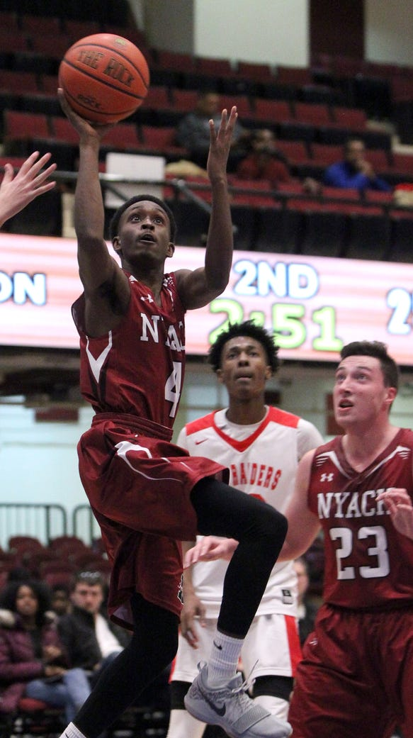 Nyack's Jason Bridgewater shoots during a Slam Dunk