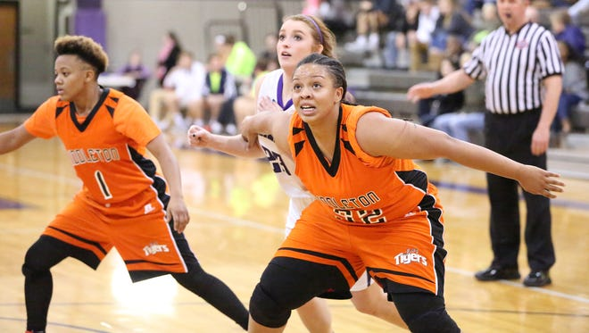 Middleton's Tyra Smith and the Lady Tigers must face a 6-2 USJ team on Saturday.