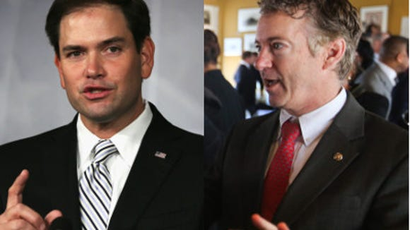 U.S. Sens. Marco Rubio and Rand Paul.
