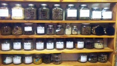 Chinese Herbs on a shelf