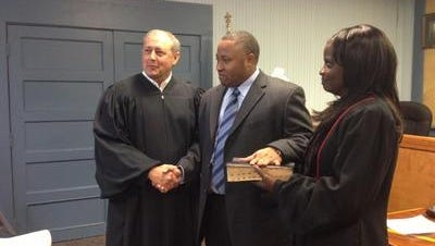 At a ceremony held on June 30, 2013, Derrick Johnson was sworn in as the new mayor of the town of Cheneyville by town Magistrate Gregory L. Jones and the Rev. Diane Allen of the St. Paul United Methodist Church. Kimberly Reed filed a lawsuit July 10, 2015, against Johnson and the town of Cheneyville regarding a domestic incident from May.