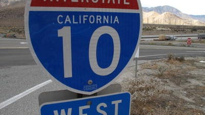 Two people were pronounced dead Saturday after crashing on westbound Interstate 10 near Chiriaco Summit.