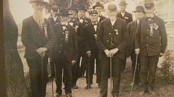 This photo, on display as part of Mount Wolf's 100th anniversary celebration several years ago, is part of the home page of a new historical organization forming in that part of York County. These Civil War vets came from the Mount Wolf and Manchester area.