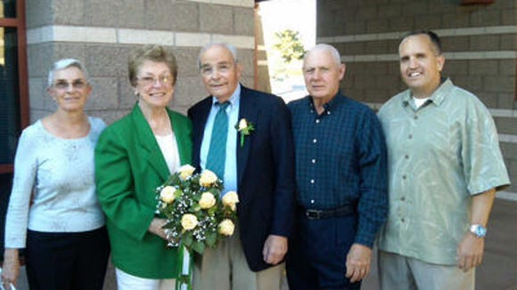 R.B. and Marge Sleeth, on their wedding day in 2009.