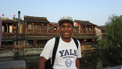 Winslow Township graduate Austin Yanez is shown in China last year. He received another State Department scholarship to return to China for the entire 2016-17 academic year to study the language and immerse himself in the culture.