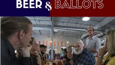 Fort Collins residents discuss local issues at a recent Beers and Ballots events hosted at Intersect Brewing.