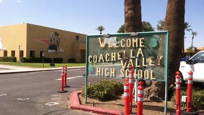Coachella Valley High School was on lockdown while authorities investigated reports of an armed student who appeared on social media. No threat was discovered, officials said.