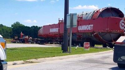 Equipment headed to the Marathon refinery in Robinson, Illinois.