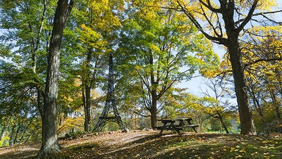 There's a mini Eiffel tower, a campground and more at Paris Park.