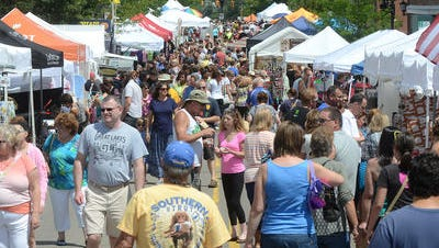 The 2015 Buy Michigan Now Festival drew a big crowd to downtown Northville.