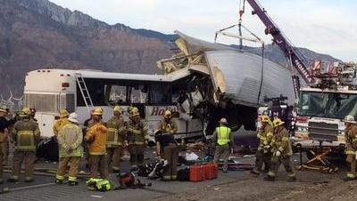 On Oct. 23, 2016, 13 people died after their tour bus collided with a big rig on Interstate 10 near Palm Springs. The National Transportation Safety Board on Oct. 31 will announce results of its year-long investigation into the collision.