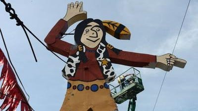 This 'Big Indian' sign has pointed down on a car dealership in Carthage for 60 years.