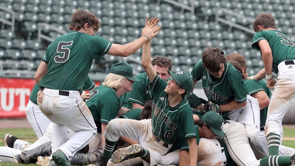 Pleasantville celebrates after defeating Briarcliff