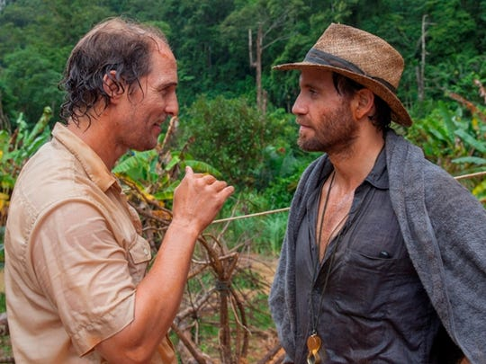 "Matthew McConaughey (left) and Edgar Ramirez star in ""Gold."""