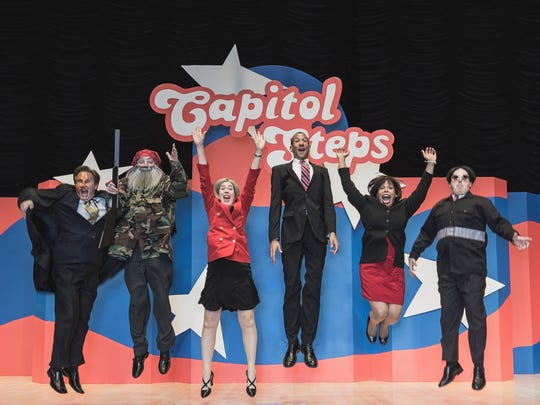 The Capitol Steps will take to the Saenger Theatre stage at 7:30 p.m. Friday.
