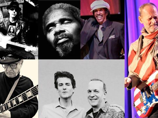 Wayne Kramer & the Kollaborators will play at the 2018 Freep Film Festival. Clockwise from top left: Tino Gross, Robert Bradley, Melvin Davis, Wayne Kramer, two-thirds of Trio Reenactment and Dennis Coffey.