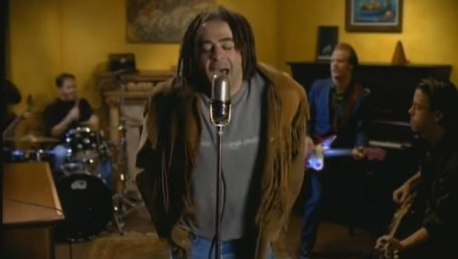 """A still from Counting Crows' music video for their 1994 hit """"Mr. Jones."""""""