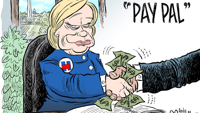 Andy Marlette Clinton Pay Pal cartoon